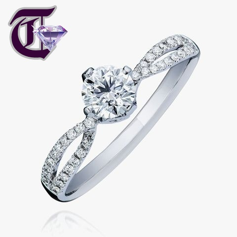 Nhẫn cưới đính kim cương