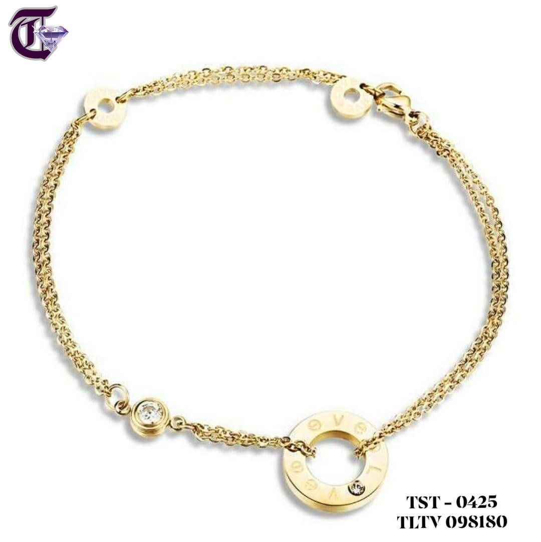 LẮC TAY NỮ TITAN CARTIER LOVE VÀNG TƯƠI TLTV 0425