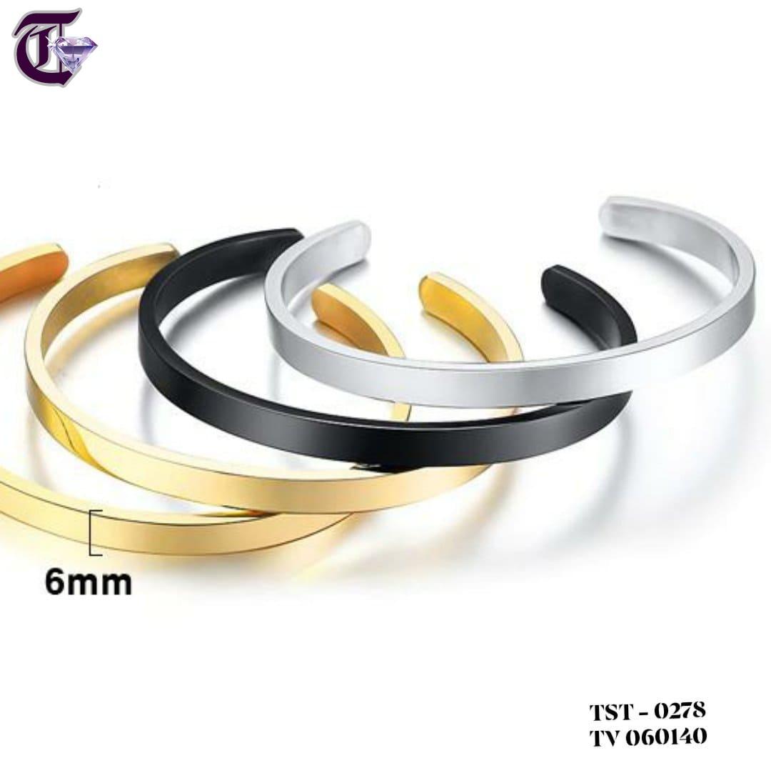 VÒNG TAY NỮ TITAN INOX BẢNG 6MM KIỂU HỞ  TV 0278
