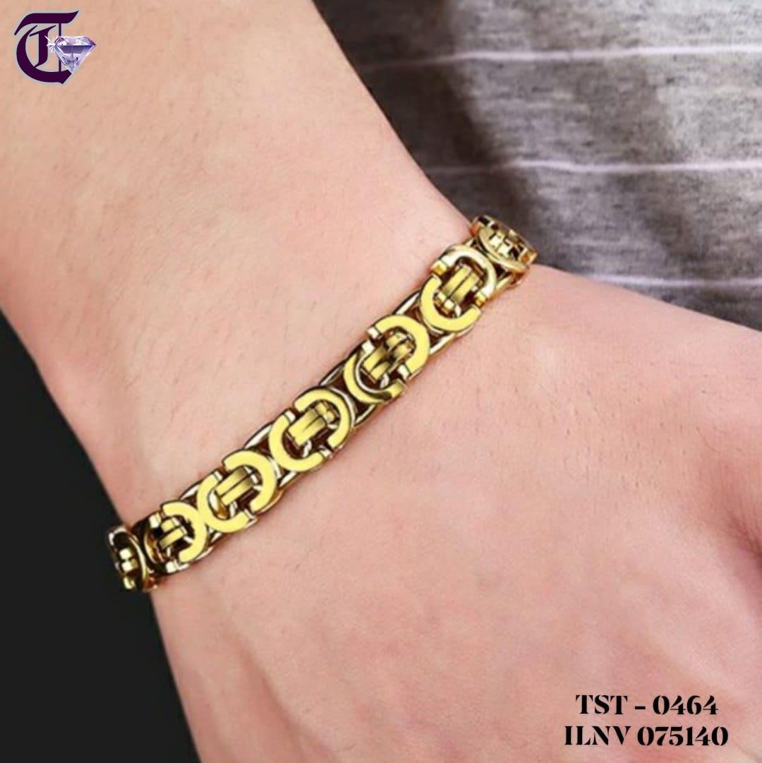 LẮC TAY NAM, VÒNG TAY INOX NAM MẠ VÀNG ILNV 0464