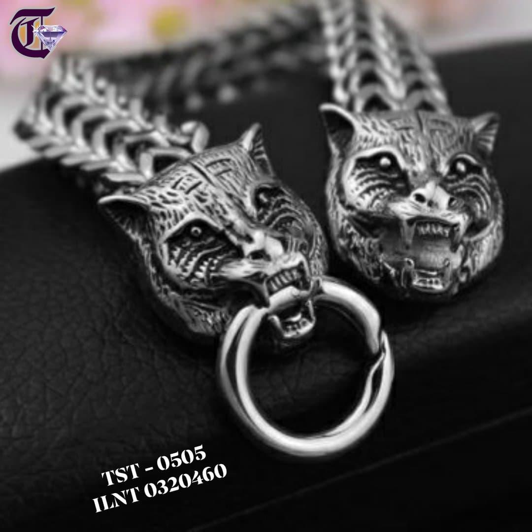 VÒNG TAY – LẮC TAY NAM INOX ĐẦU CON HỔ ILNT 0505