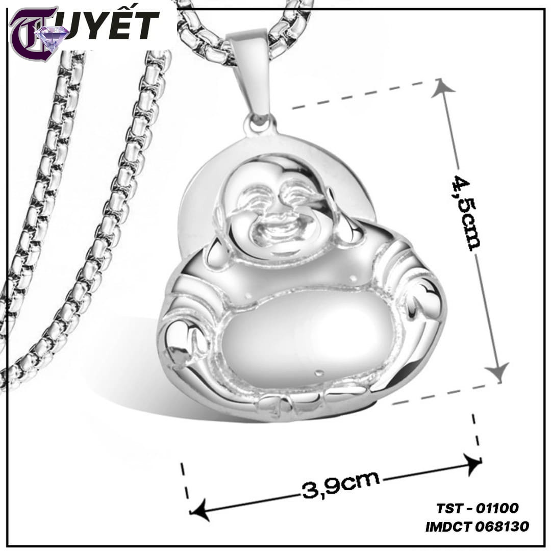 MẶT DÂY CHUYỀN PHẬT DI LẶC INOX TITAN CAO CẤP IMDCT 01100