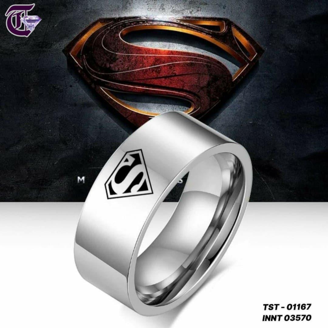 NHẪN INOX KHẮC SUPERMAN BẢNG 8LY INNT 01168