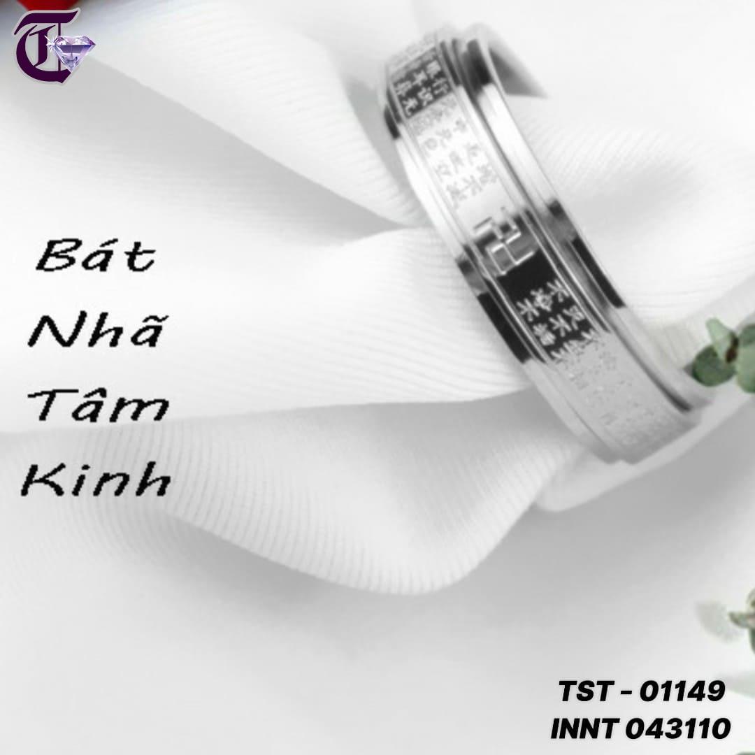 NHẪN INOX TITAN BÁT NHÃ TÂM KINH BẢNG 6MM INNT 01149