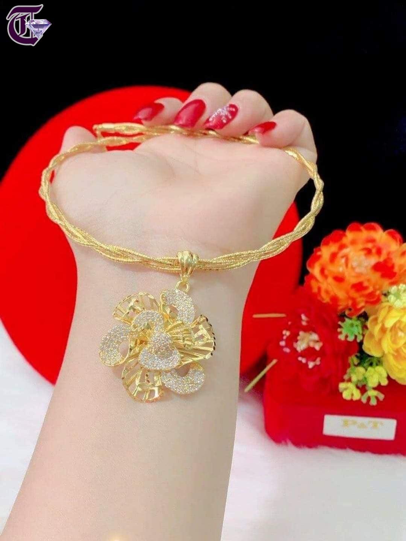 KIÊNG  MẠ VÀNG 18K  HK 01080